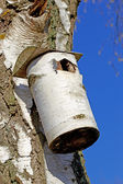 A telephoto of a bird house. — Stock Photo