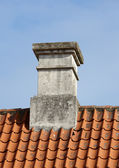 Old chimney on private home — Stock Photo