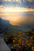 A photo of sunset seen from Table Mountain — Stock Photo