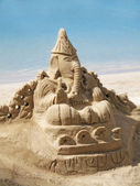 Arte de castillo de arena — Foto de Stock