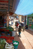Sellling grönsaker i kathmandu, nepal — Stockfoto