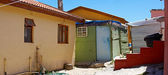 A poor township close to Cape Town, South Africa. — Stock Photo