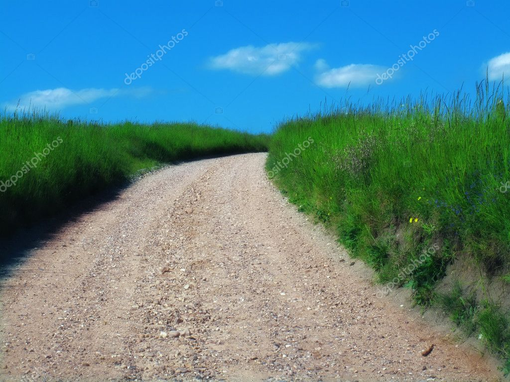 Countryroad - on a summer day — Stock Photo #6543422