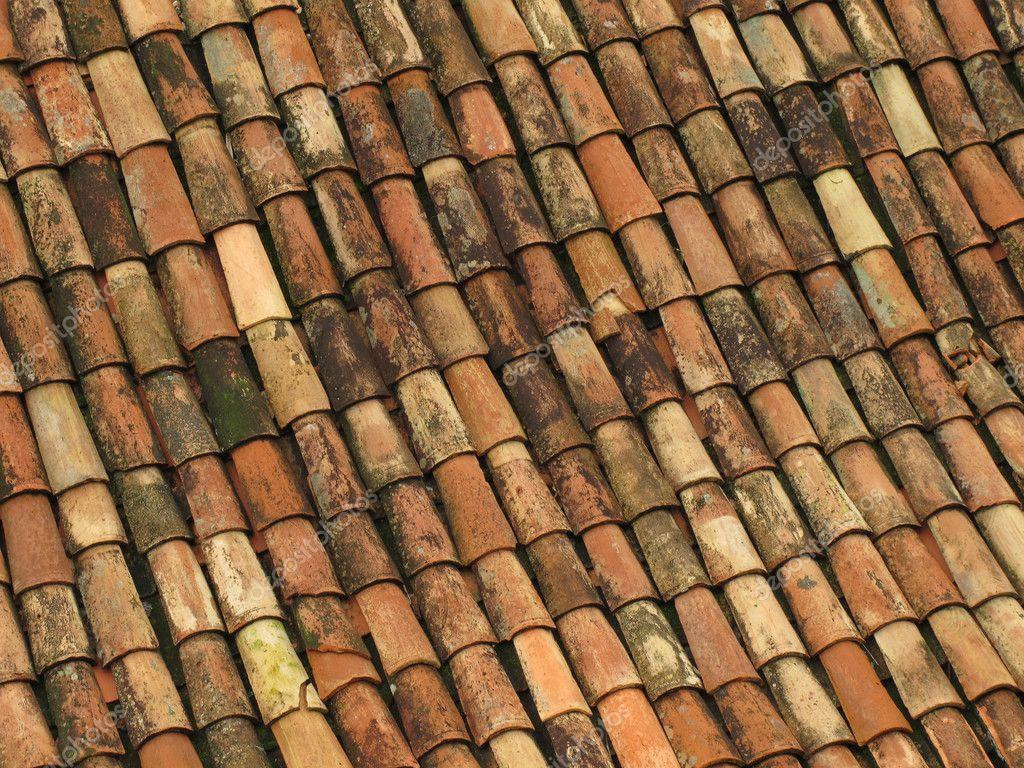 Rote Dachziegel alte rote dachziegel aus spanien stockfoto dhoxax 6544826