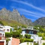 Luxury living in mountain village — Stock Photo