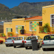 Colorful Muslim quarter in Cape Town - Stock Photo