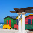 Colorful Beach Houses - Cape Town — Stock Photo