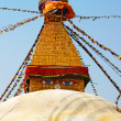 The Buddhist temple Bodhnath (Kathmandu, Nepal) - Stock Photo