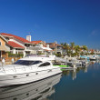 Private harbor, boats and luxury houses — Stock Photo #6551436