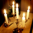 Candles at night — Stock Photo