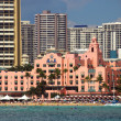 Stock Photo: Beach hotels in Waikiki
