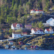 Hill houses in Norway — Stock Photo