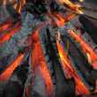 Bright flame of a fire on night — Stock Photo #6557386