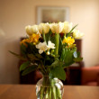 Flowers for my wife — Stock Photo