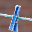 A photo of a clothes-pin a cold winte rday — Stock Photo