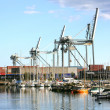 Stock Photo: Photo of crane etc. in Danish harbor
