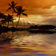 pôr do sol tropical — Foto Stock