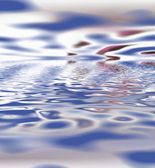Blue ripples — Stock Photo