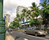 Street life in Honolulu — Stock Photo