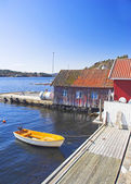 Small harbor in Norway — Stock Photo