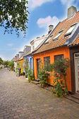 Old Danish urban houses — Stock Photo