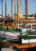 Boat at the harbor — Stock Photo