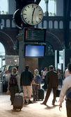 A la gare — Photo