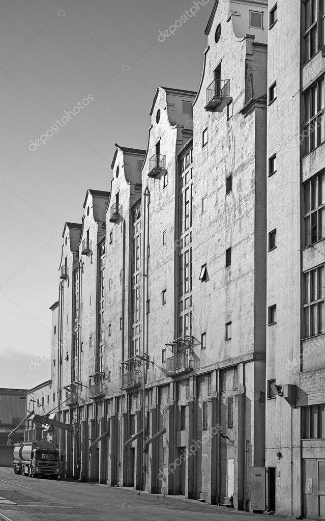 Photo of harbor buildings (Aarhus, Denmark)  Stock Photo #6557589