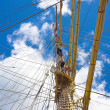 Sailors on old sailing ship — Stock Photo #6560992
