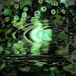Green ripples — Stock Photo