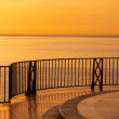 Spanish ocean sunset - view from  luxury villa - Stock Photo