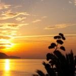 Spanish ocean sunset - view from luxury villa — Stock Photo