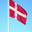 The Danish flag — Stock Photo