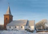 Winter church — Stock Photo