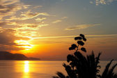 Tropical ocean sunset — Stock Photo