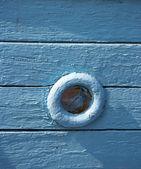Okno v staré plachetnice — Stock fotografie