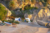 Small isolated beach in Spain — Stock Photo