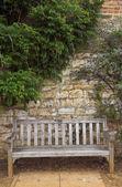 View of a garden bench in devon — Stock Photo
