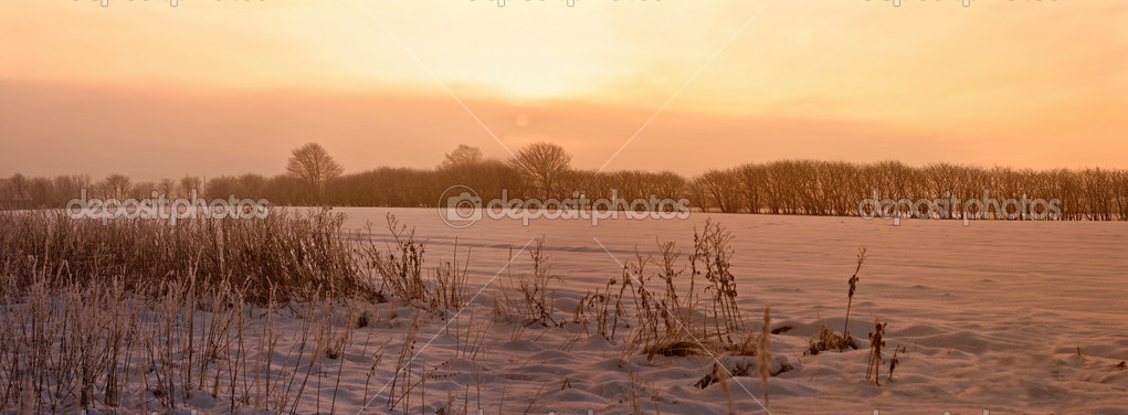 A photo of sunrise early winter morning — Stock Photo #6560914