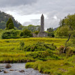 Round tower at Glendalough - ストック写真