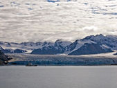 Glacier Bay Fjord: rivers of ice — Stock Photo