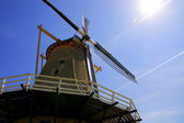 Old Windmill in Holland with the Sun — Stock Photo