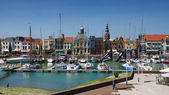 Vlissingen little Harbour in Holland — Stock Photo