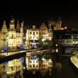 Ghent historical centre at Christmass — Stock Photo #6401344