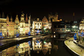 Ghent historical centre at Christmass — Stock Photo