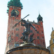 Neptun fountain in Gdansk — Stock Photo