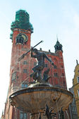 Neptun fountain in Gdansk — Stockfoto