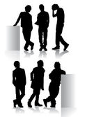 Fashion man silhouettes — Stock Photo