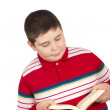 Boy reading book — Stock Photo