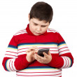 Young boy with calculator — Stock Photo